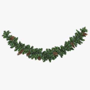 3D garland frosted medium