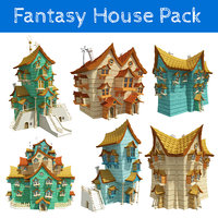 fantasy houses pack 3D model