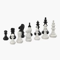 3D model plastic chess figures