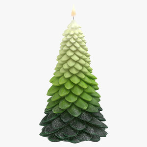 tree shaped candles 02 3D model