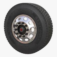Truck Front Wheel 3D Model