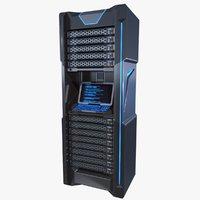 Sci-fi Server Rack