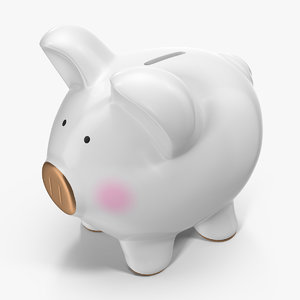 grey piggy bank model