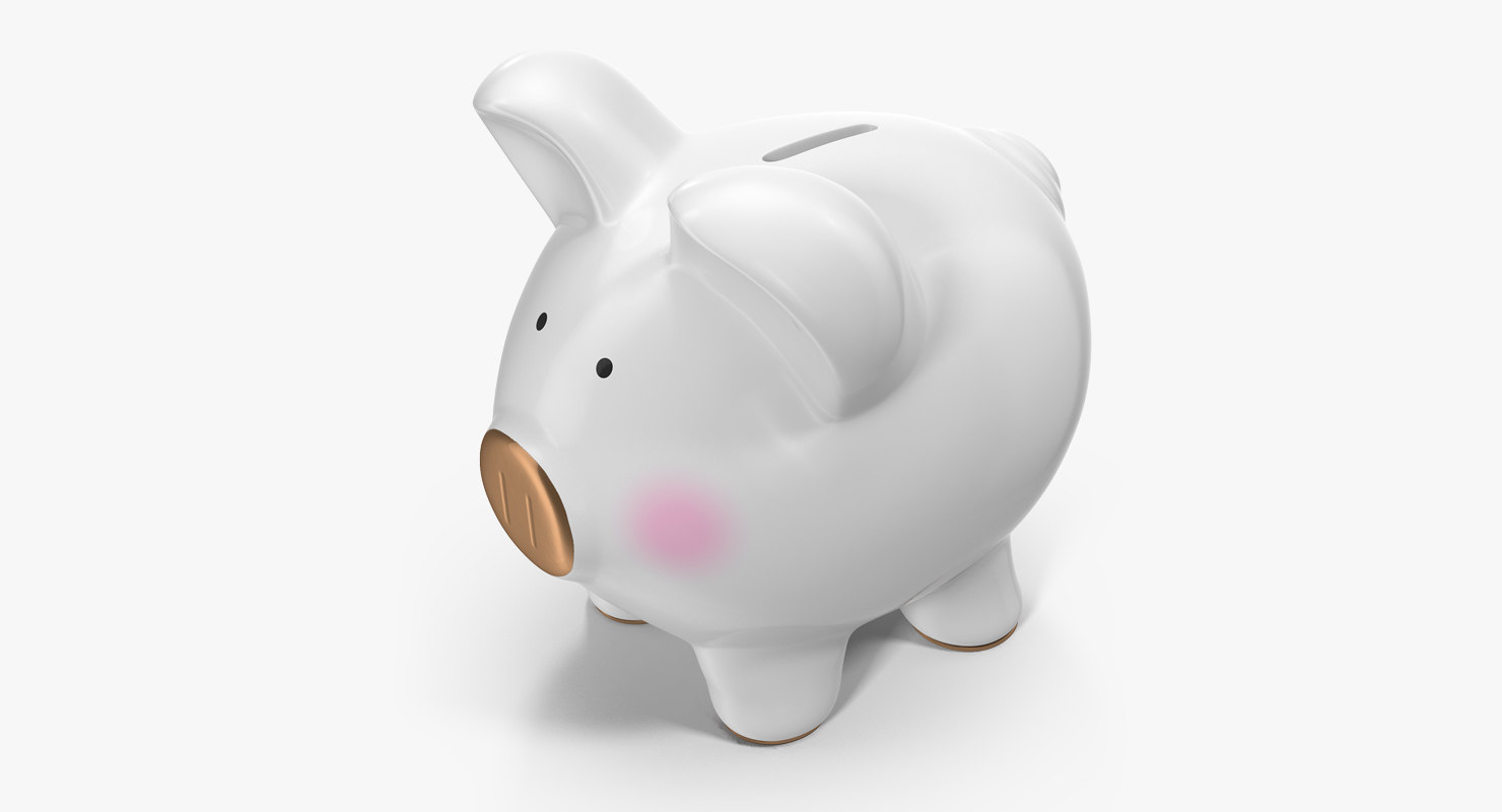 grey piggy bank model