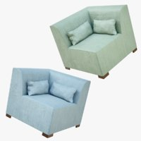 lightwave sofa module 3D