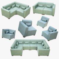 sofa module 3D model