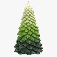 3D model tree shaped candles 02