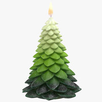 3D tree shaped candles 02 model