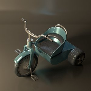 3D child s bicycle