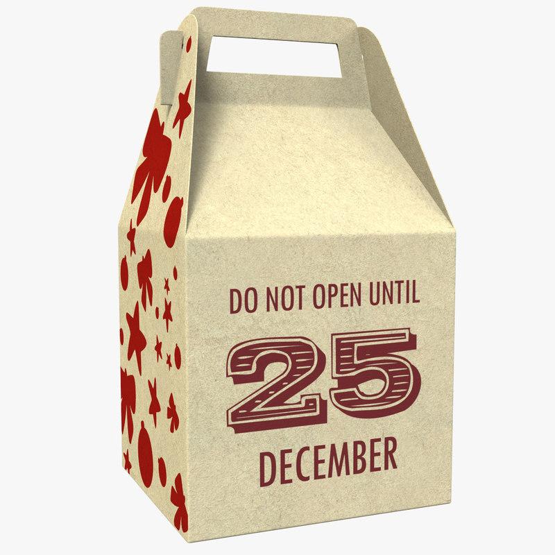 3D model packaging box