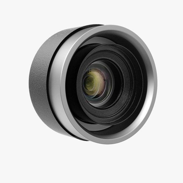 camera lens lense 3D model