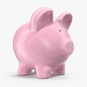 3D model ceramic piggy bank