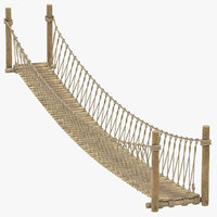 rope suspension bridge 3D
