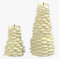 3D tree shaped candles 03