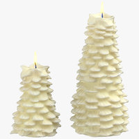 tree shaped candles 03 3D model