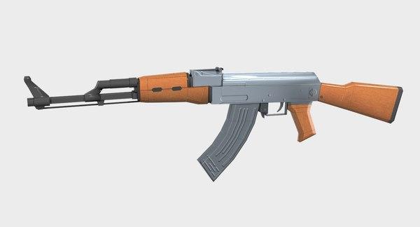 ak-47 gun 3D
