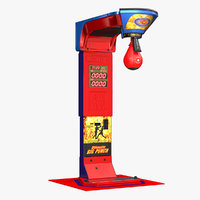 boxing arcade machine 3D model