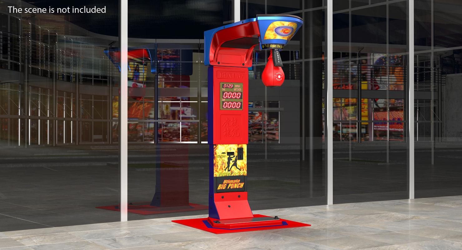 boxing arcade machine 3D model