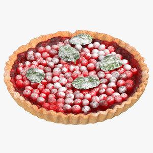 3D cranberry tart model