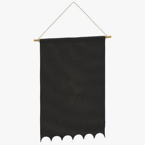 3D model hanging banner 02