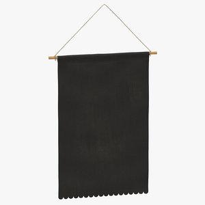 hanging banner 03 3D model