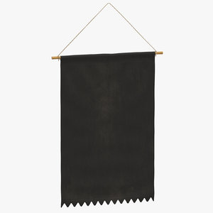 hanging banner 04 model