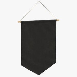 3D hanging banner 07 model