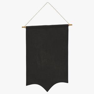 hanging banner 09 3D model
