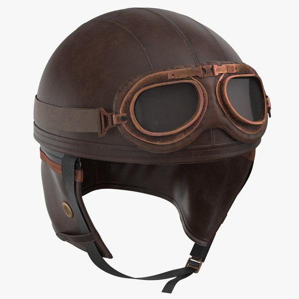 retro aviator helmet 3D