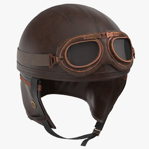 retro aviator helmet 3D