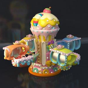 3D model house rotating