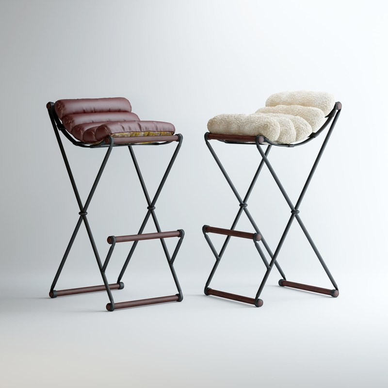 iron-bar-stools model