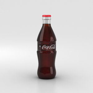 3D bottle coca-cola coca model
