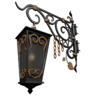forged street lamp 3D model
