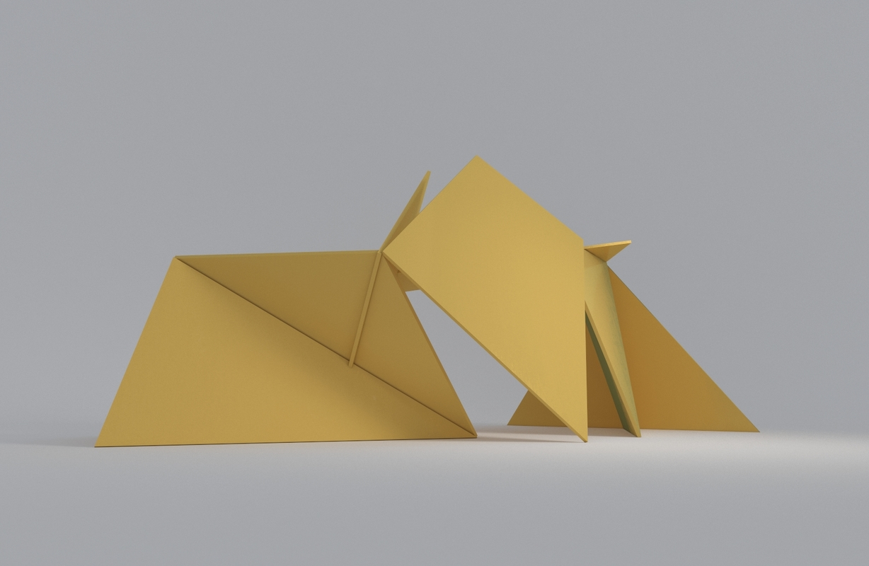 abstract sculpture model