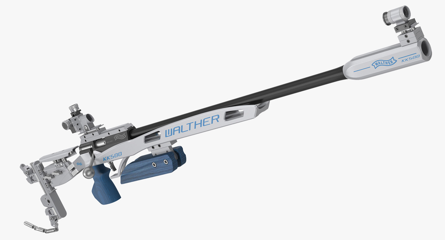 3D walther kk500m biathlon rifle gun model