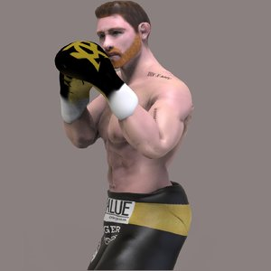 fighter canelo alvarez 3D