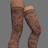 3D model sexy female stockings