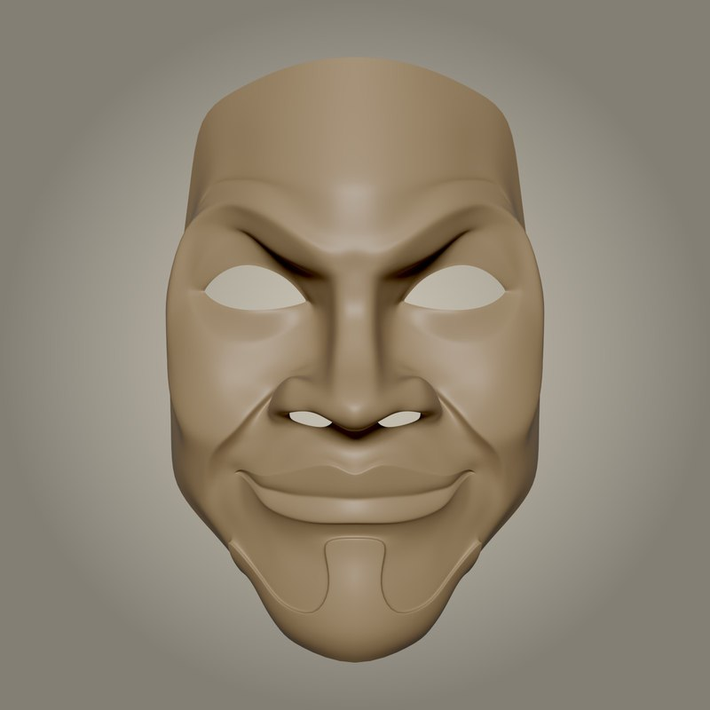 theater mask 3D