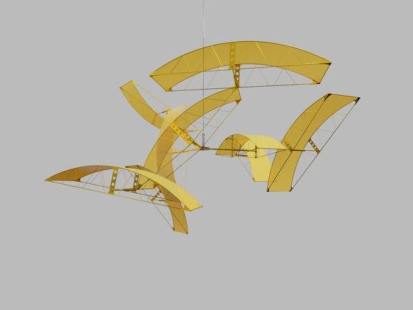 3D abstract sculpture model