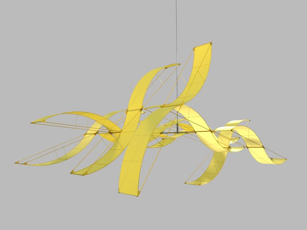abstract sculpture susumu 3D model