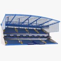 bleacher stadium 3D model