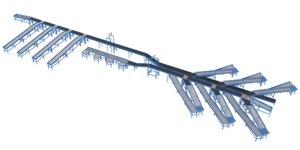 3D barcode cognex conveyor