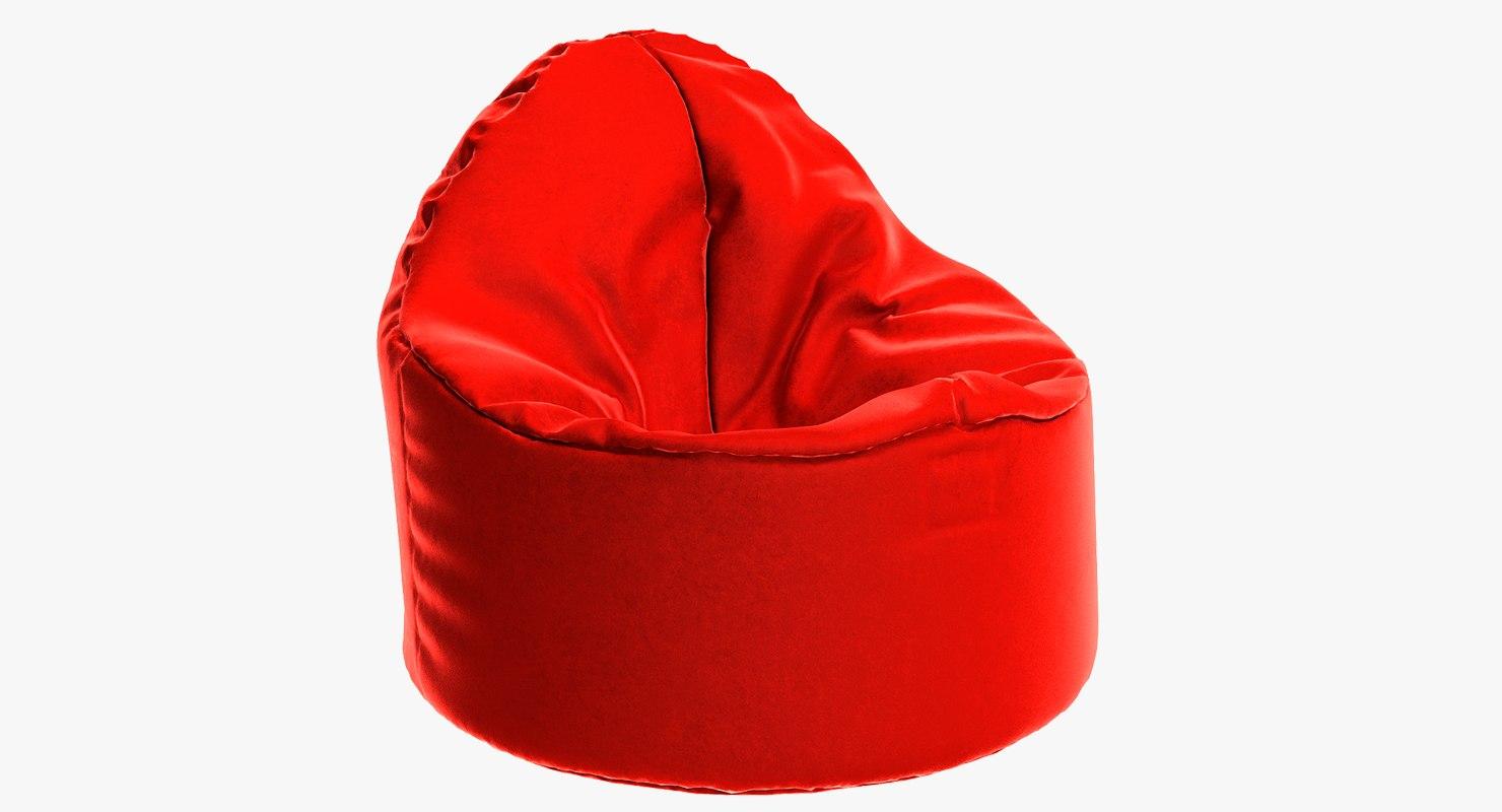 3D chair furniture pouf model