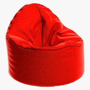 3D chair furniture pouf model