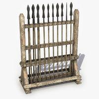 spear rack 3D