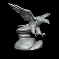bald eagle sculpture 3D model