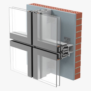 glazing construction 3D