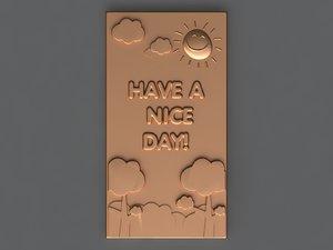 chocolate bar 3D