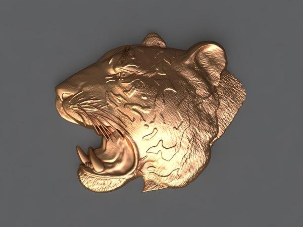 tiger mold hand 3D model